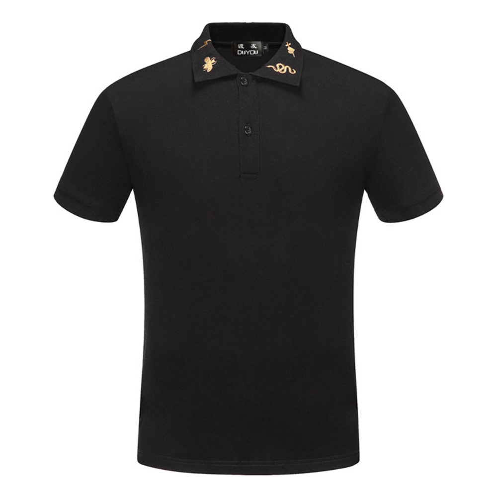 DUYOU New Luxury Designer Men Polo shirts men brand clothing fashion solid polos male quality 100% cotton casual summer Polo men