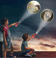 Dinosaur Projector Flashlight Luminous Toy Rotatable Lens Projector Toy with 24 Different Patterns Projector Light Designer.