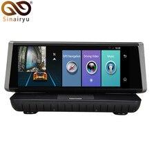 Sinairyu Android 5.1 GPS Navi 4G ADAS Bluetooth WIFI FM 1080P Car Stand On Dash 8″ Touch Screen FHD DVR Monitor with Rear Camera