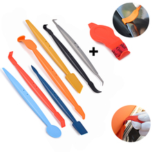 EHDIS 8Pcs/Set Carbon Film Vinyl Wrap Car Magnet Squeegee Micro Corner Wrapping Scraper Sticker Install Tool Styling Tools