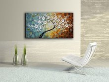 handpainted flowers Oil Painting Palette knife Tree 3D Flowers Paintings for Home Decor Wall Art pictures