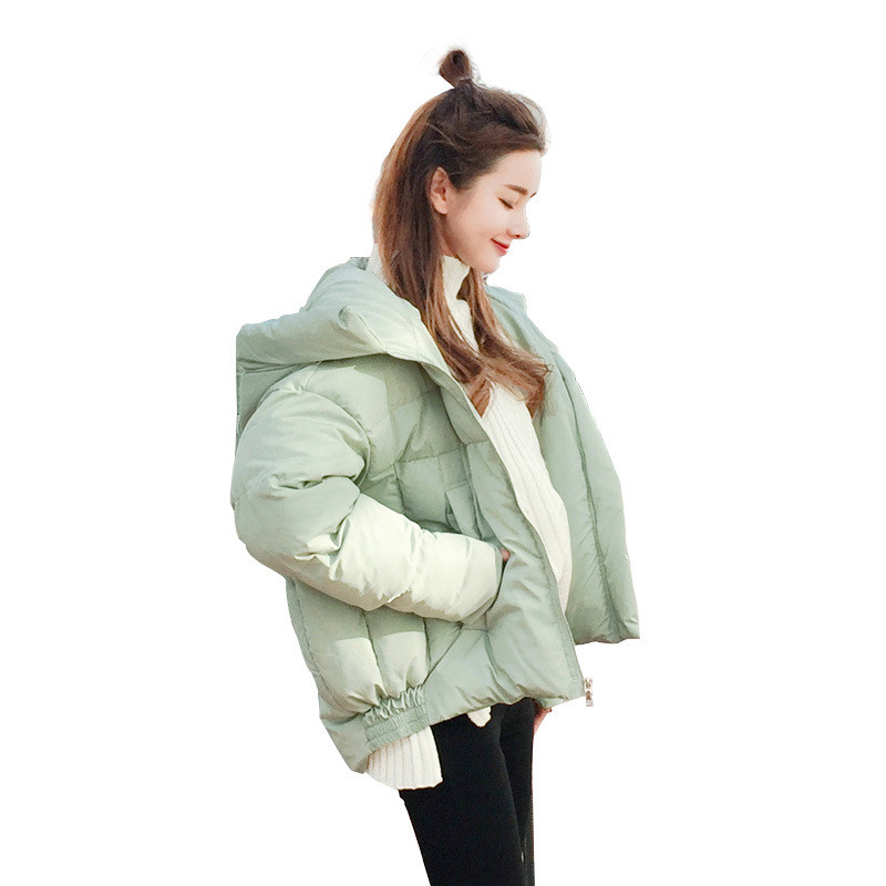 Winter Fashion Loose BF Style Hooded Short Harajuku Women Jacket Solid Color Parka Girls Women Coat Fashion Cotton Padded TT3243 tt tf ths 02b hybrid style black ver convoy asia exclusive