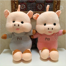 New Cartoon Cute Pig Short Plush Toys Stuffed Animal Pig Toy Soft Plush Pillow Children Birthday Christmas Gift