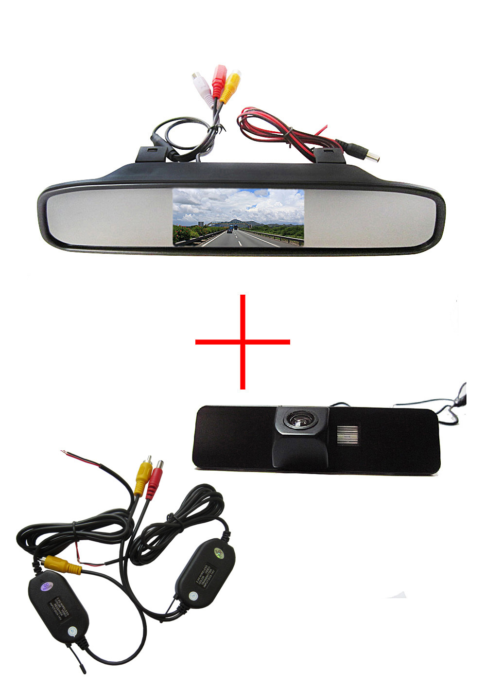 Wireless Color CCD Chip Car Rear View Camera for Subaru Legacy Liberty + 4.3 Inch rearview Mirror Monitor wireless color ccd chip car rear view camera for kia sorento sportage 4 3 inch foldable lcd tft monitor