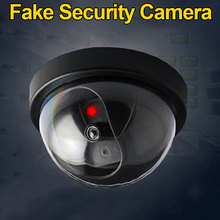Simulated Security Camera Fake Dome Dummy Camera with Flash LED Light 3pcs fake security camer outdoor dome shape dummy camera surveillance simulation camera with warning flash led light