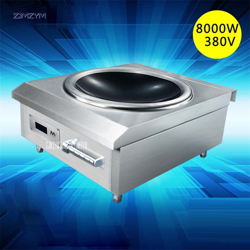 8000W Concava In Stainless Steel High Power Induction Cooker Commercial Stove Electromagnetic Furnace Industrial Electric Frying