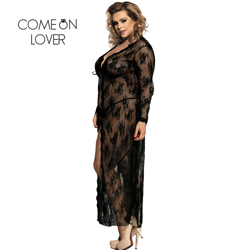 Comeonlover Women Sexy Lingerie Sexy Underwear Women Lady Intimo Donna Sexy Hot Porno Black Lace Gown Sexy Nightwear RI80232 1