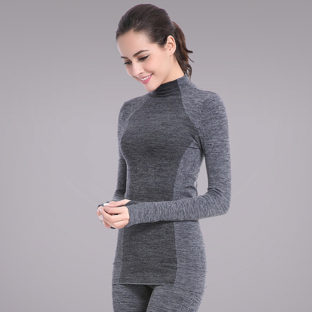 Outdoor Sports Women Breathable Long Sleeve Fitness Gym Running T Shirt Quick Dry Stretch Soft Sports Yoga Tops