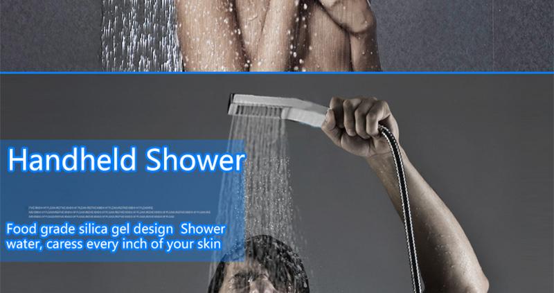 DCAN 10 Rainfall Shower Head System Polished Chrome Bath Wall Mounted Shower Faucet Bathroom Luxury Rain Mixer Shower Combo Set (25)
