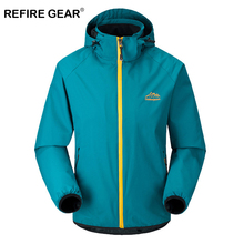 ReFire Gear Spring Autumn Thin Outdoor Windbreaker Jackets Male Hunting Climbing Hiking Camping Coat Clothes Waterproof Jackets whs 2018 new men thin cotton jacket autumn outdoor windproof warm coat spring male mens camping clothes hiking jackets hot