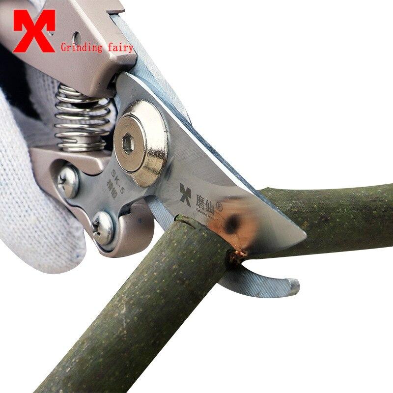 MX Garden Scissors Pruning Tools SK5 Steel Fruit Tree Pruning Shears Bonsai Pruner Grafting Tool Gardening Secateur Easy Pruners цена