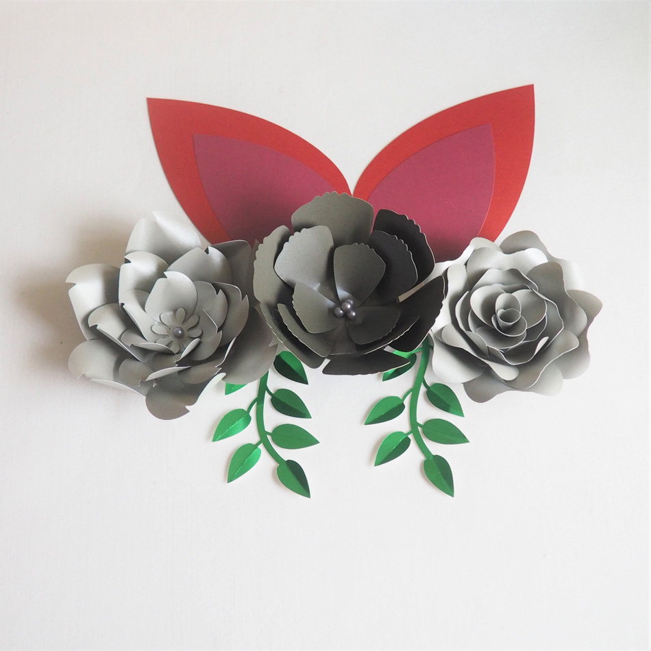 Diy Large Paper Flowers Artificial Rose Fleurs Backdrops 3pcs 2