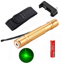 Best Buy 5mW Green Laser Pointer Pen High Power Waterproof 18650 Battery Charger +Holster