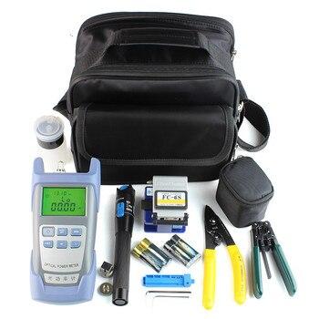 Kit de herramientas de Fibra óptica con Clivador de Fibra Otica y localizador de fallas de Fibra de medidor de potencia 5 km