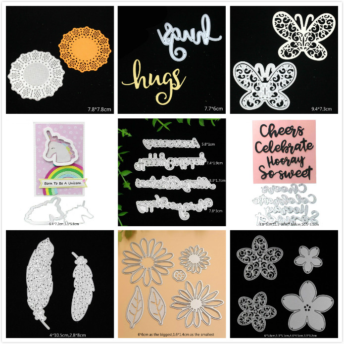 YPP CRAFT Mixed Metal Cutting Dies Stencils for DIY Scrapbooking/photo album Decorative Embossing DIY Paper Cards