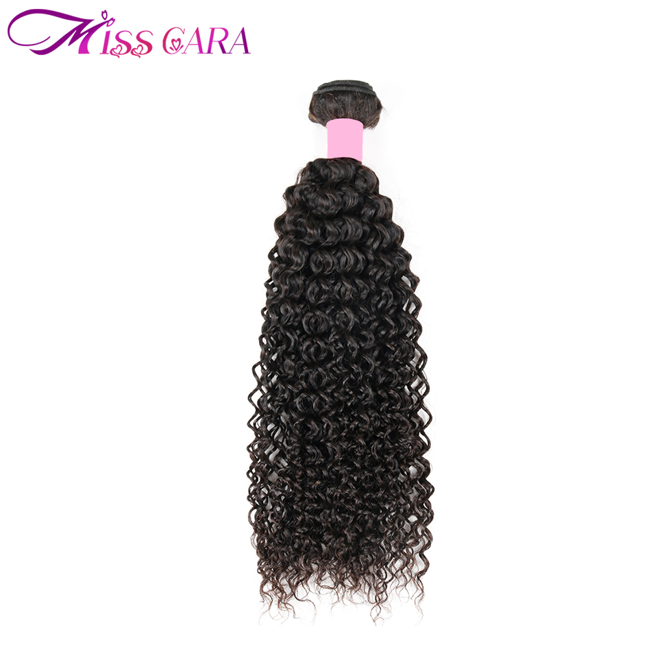 Malaysian Afro Kinky Curly Hair Bundles Weave Human Hair Extensions Miss Cara 100% Natural Color Remy 1 Piece