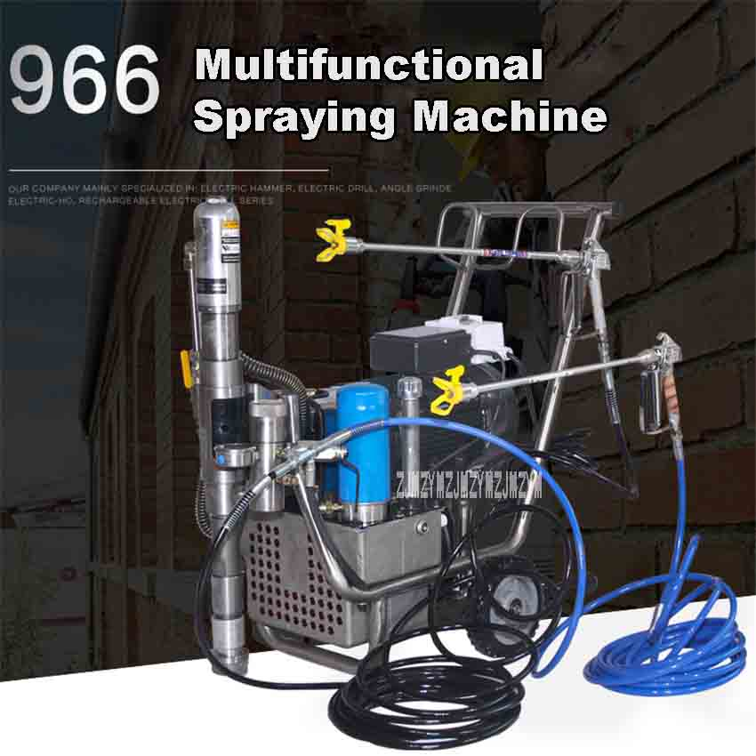 цена на New High-pressure Airless Spraying Machine Professional Airless Spray Gun R966 Paint Sprayer Painting Machine 220V 4500W 16L/min