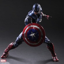 1/7 scale Collectible figure doll Marvel Comics Captain America Steven 10″ action figures doll Plastic Model Toys