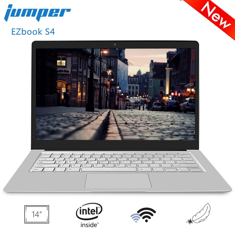 Jumper EZbook S4 14 Inch Laptop Windows 10 Intel J3160 Quad Core 1.6GHz 8GB RAM 256GB SSD Lightweght Notebook 2.4G/5G WiFi BT