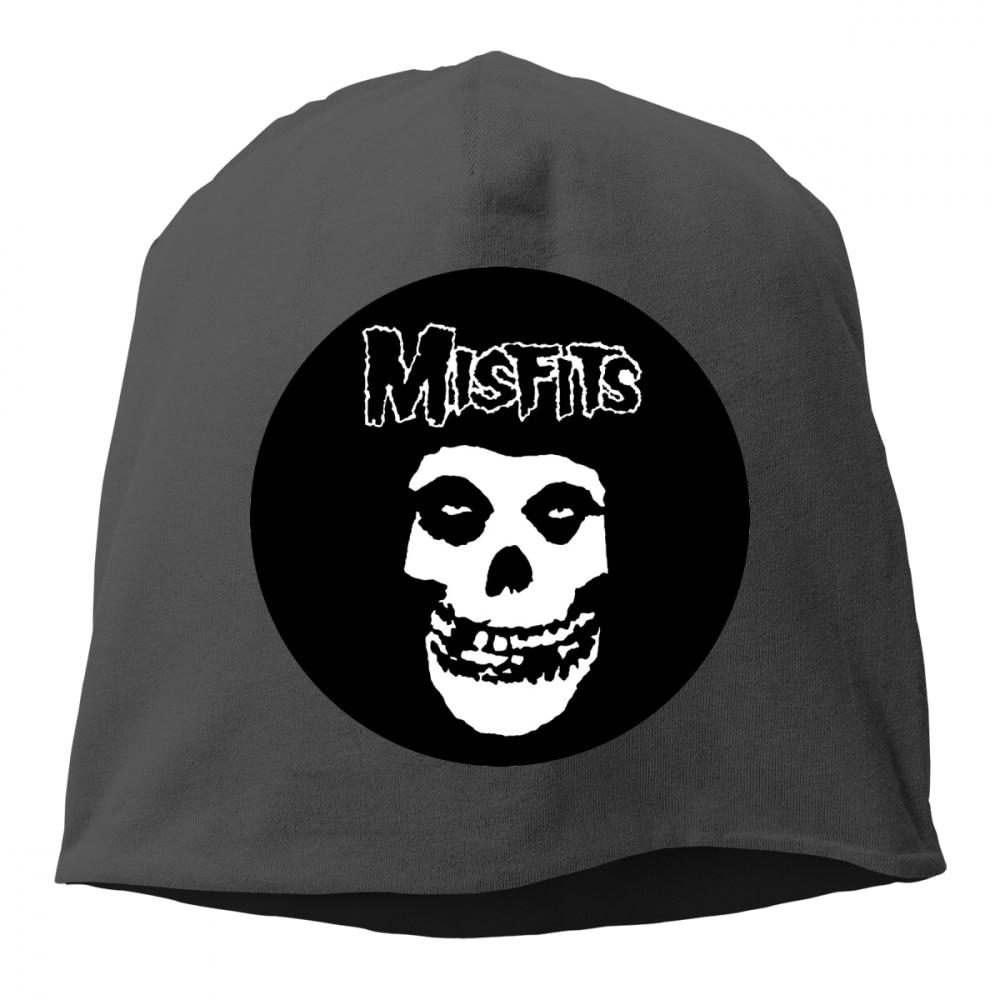 Desajustados Punk Rock Metal Homens Mulheres Cap Hop Slouch chapéus skullies  Beanie Malha Outono Inverno chapeu 914373c19fb