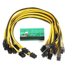 Сервер Мощность модуль Breakout совета для DPS-1200FB/QB Мощность преобразования доска с 10 6pin кабель для ethereum интеллектуального устройства