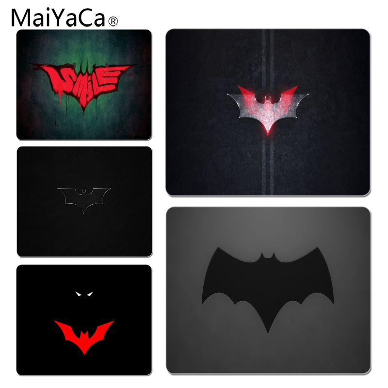 MaiYaCa Your Own Mats Batman Logo Customized laptop Gaming mouse pad Size for 18x22cm 25x29cm Rubber Mousemats