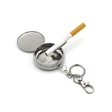 цена на Personalized Sealed Ashtray Portable Metal Mini Ashtrays For Travel Storage cigarette Butt Keychain Pendant Men's Gadget