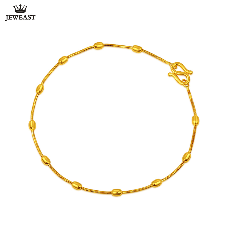 24K Pure Gold Bracelet Real 999 Solid Gold Bangle Smart Beautiful Serpentine Trendy Fashion Party Fine Jewelry Hot Sell New 2018 24k gold ring pure real pattern exquisite fine jewelry mini resizable design fashion female new hot sale 999 trendy party women