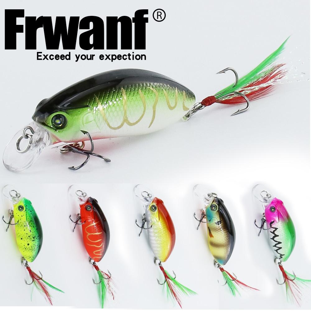 Frwanf 6 PCS/lot Deep Diving Minnow Hard Lure 5.9CM 9G Jigging Fishing Lure Hard baits Artificial Bait Treble Hook Wobblers
