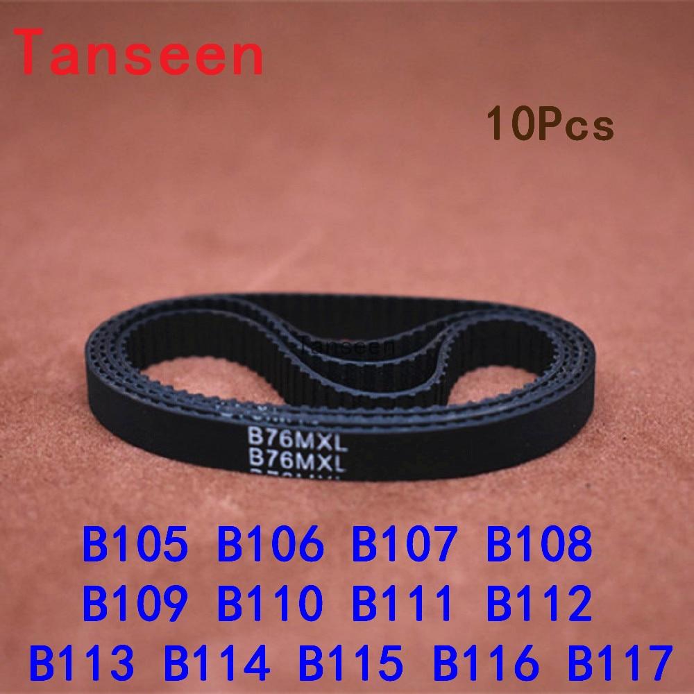 2pcs GT2 Timing Belt Annular Loop Gear Rubber 6mm Width 2mm Pitch 128-2GT