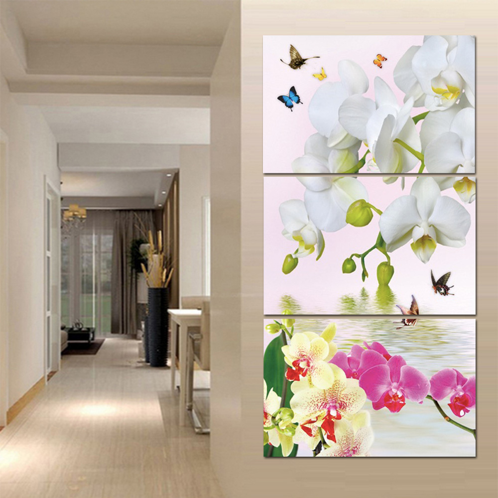 Unframed Canvas Painting Flower Wall Art Decor Prints Wall Pictures For Living Room Wall Art Decoration 2018 Dropshipping