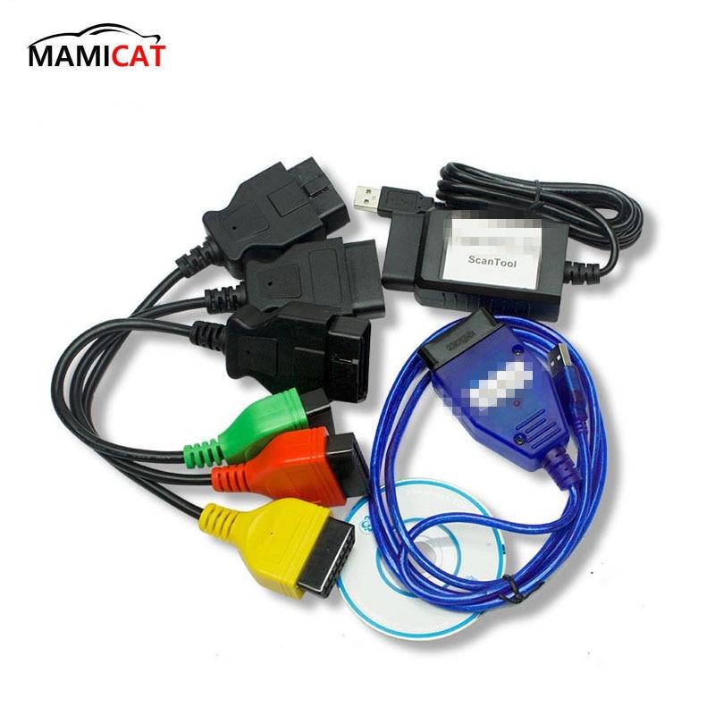 ECU Scan Diagnostic Cables Leads MultiECUScan for Fiat ECU Scan for
