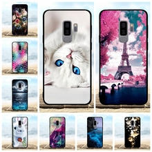 For Samsung Galaxy S9 Plus Case Soft TPU Silicone G965F Cover Cat Patterned Capa