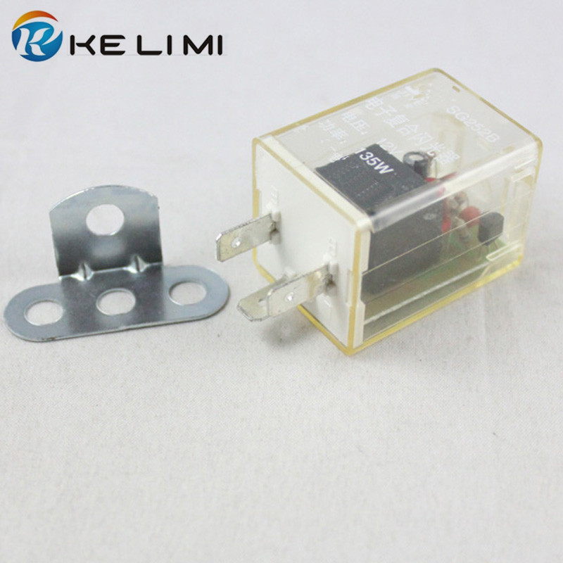 KE LI MI 2x Car Bike Motorcycle 3-pin Electronic 12V 135W Flasher Relay Fix for Turn Signal Hyper Flashing Blinker LED Light