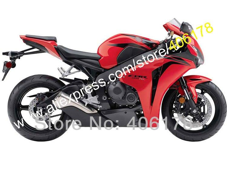 Hot Sales,Motorcycle For Honda CBR1000RR 08 09 10 11 CBR 1000RR 2008 2009 2010 2011 Red Black Fairing Kit (Injection molding)