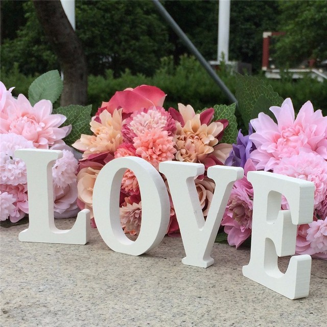 Love Letters Wooden Romantic Wedding Decorations Marriage Love