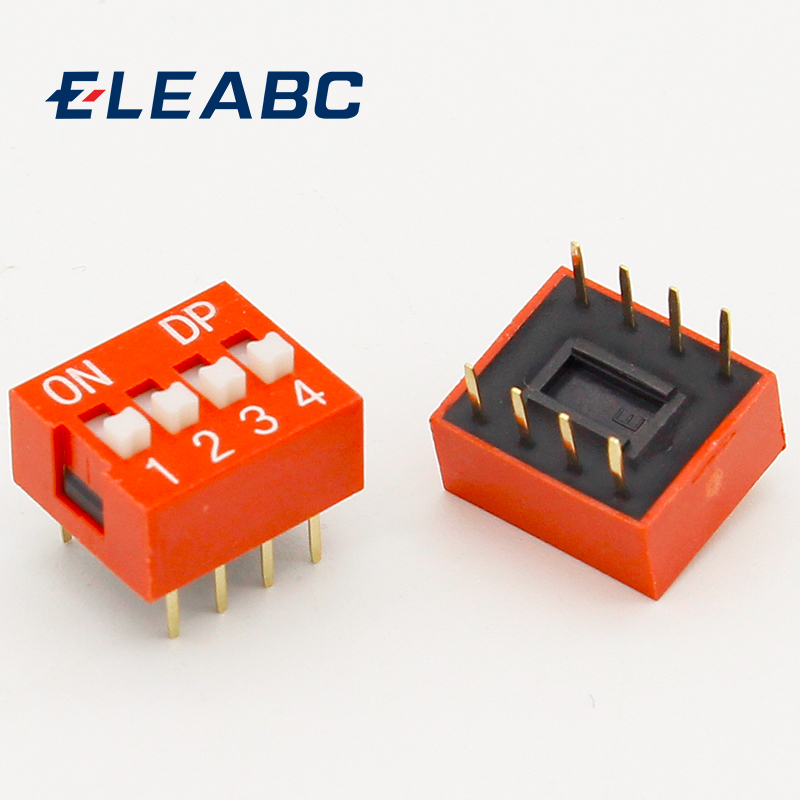 IMC Hot 10 Pcs 2 Row 8 Pin 4P Positions 2.54mm Pitch DIP Switch Red imc hot 2pcs double row red black 12 pin 12 in jack speaker terminals