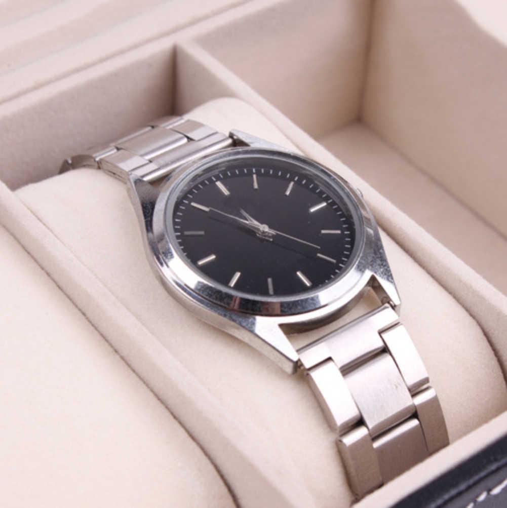 2018 באיכות גבוהה פו עור 12 רשתות תכשיטי טבעת שעונים מקרה הצגת תיבת אחסון ארגונית גדול קיבולת תיבת שעון