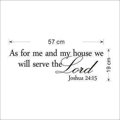 2016 New As For Me and My House Joshua 24:15 Quote Wall Decal Vinyl Sticker Bible Verses Wholesale
