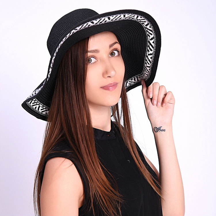 34bf649789a46 2015 New Womens fashion Wide Large Brim Summer women Beach Sun Straw ...