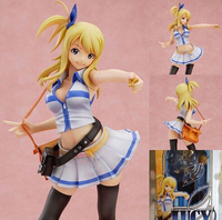 Classic Anime 2016 Hot 1 Pc Scale 21cm PVC Cartoon Lucy Heartfilia Anime Cosplay Fairy Tail
