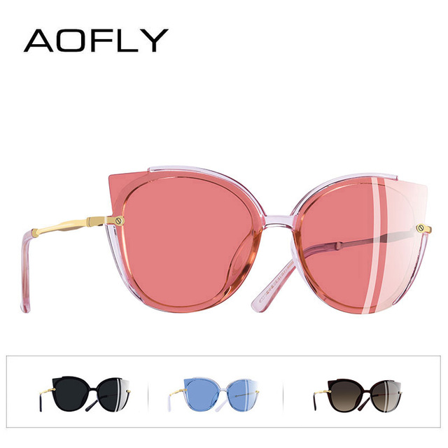AOFLY BRAND DESIGN Fashion Lady Polarized Sunglasses Women Unique Frame Cat Eye Sun Glasses Gafas UV400 A106 3