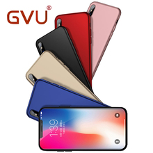 GVU Luxury Phone Case For iPhone X Case Matte Soft Ultra-thin Back Full TPU For iPhone X Case For Apple iPhone X Shell Cover