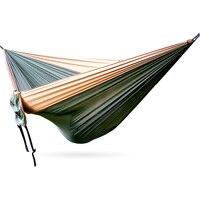 Gran hamaca de tela de paracaídas columpio cama muebles de exterior tamaño grande 320 cm