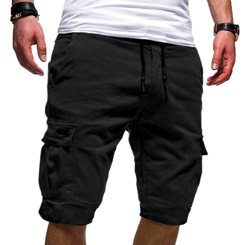 Mens Military Cargo Shorts Mens Beach Shorts Men's Multi-pocket Sports Fitness Shorts Loose Work Casual Short Pants(China)