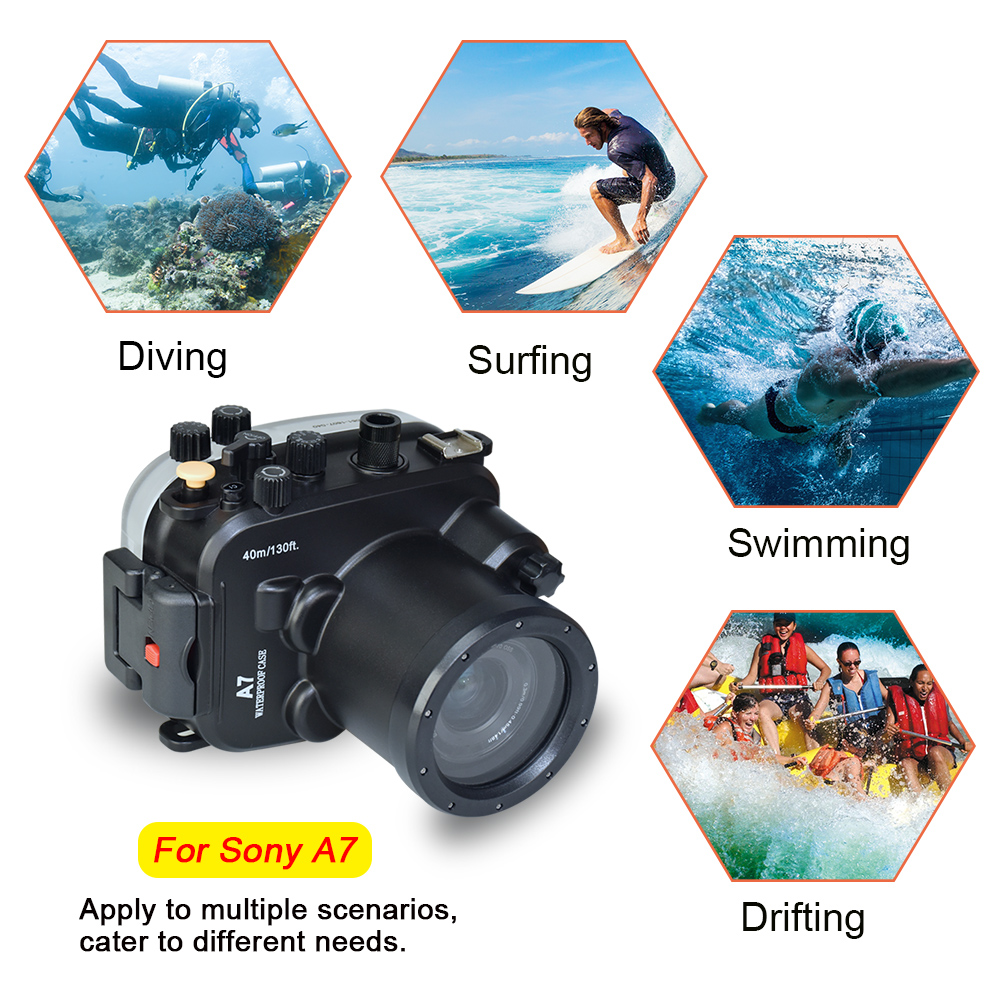 camera waterproof box diving shooting case underwater camera housing bag (6)