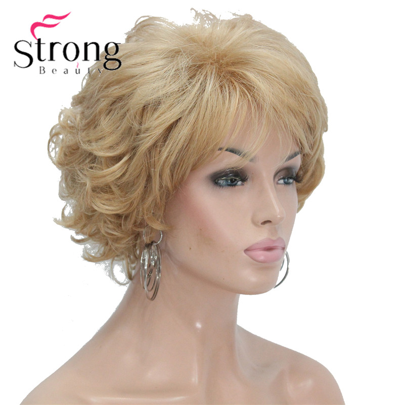 Short Soft Tousled Curls Brown,Auburn,Blonde Full Synthetic Wigs COLOUR CHOICES