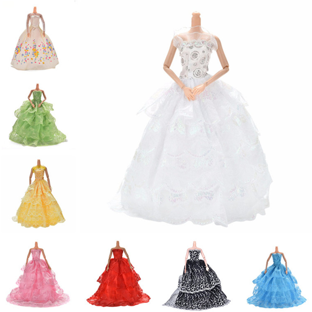 Multi Layers Floral Doll Dress Elegant Handmade Wedding Princess Dress For  Doll Clothes Clothing Dolls Accessories