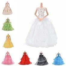 Vestido de muñeca con flores multicapas elegante vestido de princesa de boda hecho a mano para ropa de muñeca accesorios de ropa de muñecas