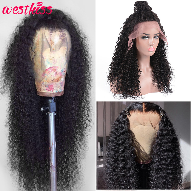 Brazilian Deep Wave Lace Front Wig 13x4 Lace Front Human Hair Wigs Pre Plucked With Baby Hair Remy West Kiss Wig For Black Women